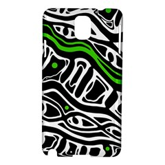 Green, black and white abstract art Samsung Galaxy Note 3 N9005 Hardshell Case