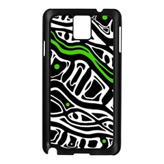Green, black and white abstract art Samsung Galaxy Note 3 N9005 Case (Black)