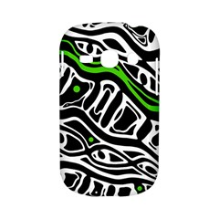 Green, black and white abstract art Samsung Galaxy S6810 Hardshell Case