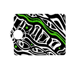 Green, black and white abstract art Kindle Fire HD (2013) Flip 360 Case