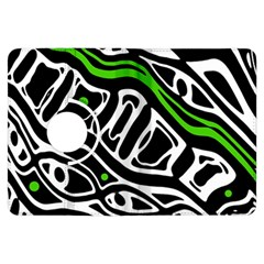 Green, black and white abstract art Kindle Fire HDX Flip 360 Case