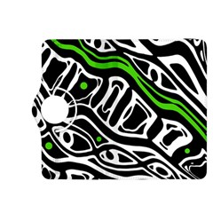 Green, black and white abstract art Kindle Fire HDX 8.9  Flip 360 Case