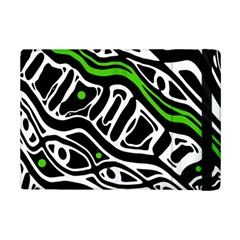 Green, black and white abstract art iPad Mini 2 Flip Cases