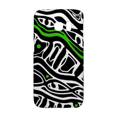 Green, black and white abstract art Galaxy S6 Edge