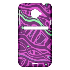 Purple and green abstract art HTC Evo 4G LTE Hardshell Case