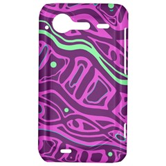 Purple and green abstract art HTC Incredible S Hardshell Case