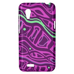Purple and green abstract art HTC Desire VT (T328T) Hardshell Case