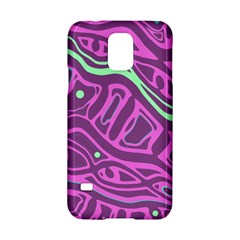 Purple and green abstract art Samsung Galaxy S5 Hardshell Case