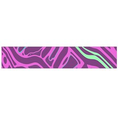 Purple and green abstract art Flano Scarf (Large)
