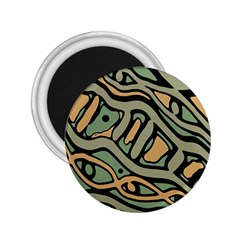 Green abstract art 2.25  Magnets