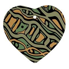 Green abstract art Ornament (Heart)