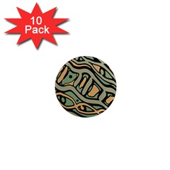Green abstract art 1  Mini Magnet (10 pack)