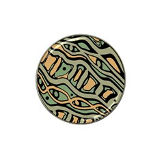 Green abstract art Hat Clip Ball Marker (4 pack)