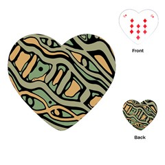 Green abstract art Playing Cards (Heart)