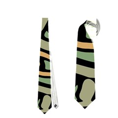 Green abstract art Neckties (One Side)