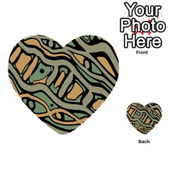 Green abstract art Multi-purpose Cards (Heart)