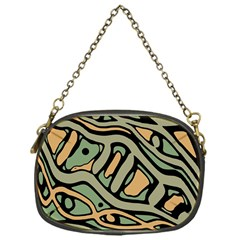 Green abstract art Chain Purses (One Side)