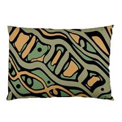 Green abstract art Pillow Case