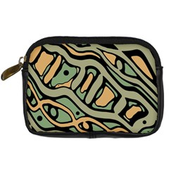 Green abstract art Digital Camera Cases