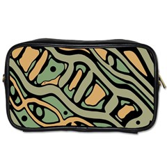 Green abstract art Toiletries Bags