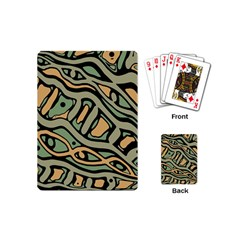 Green abstract art Playing Cards (Mini)