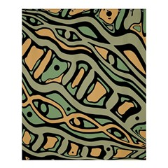 Green abstract art Shower Curtain 60  x 72  (Medium)