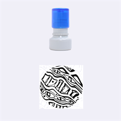 Green Abstract Art Rubber Round Stamps (small)