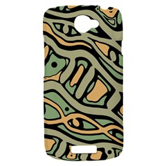 Green abstract art HTC One S Hardshell Case