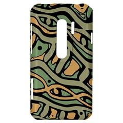 Green abstract art HTC Evo 3D Hardshell Case