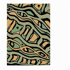Green abstract art Large Garden Flag (Two Sides)
