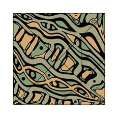 Green abstract art Acrylic Tangram Puzzle (6  x 6 )