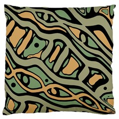 Green abstract art Large Cushion Case (Two Sides)