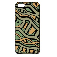 Green abstract art Apple iPhone 5 Seamless Case (Black)