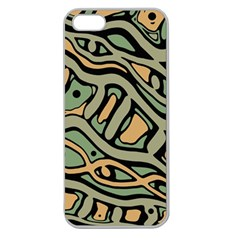 Green abstract art Apple Seamless iPhone 5 Case (Clear)