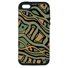 Green abstract art Apple iPhone 5 Hardshell Case (PC+Silicone)