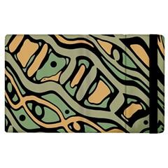 Green abstract art Apple iPad 3/4 Flip Case
