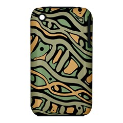 Green abstract art Apple iPhone 3G/3GS Hardshell Case (PC+Silicone)