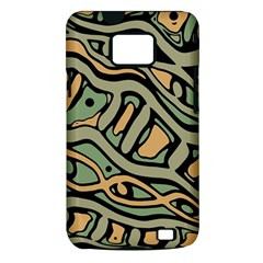 Green abstract art Samsung Galaxy S II i9100 Hardshell Case (PC+Silicone)