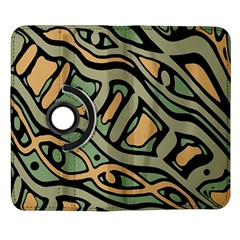 Green abstract art Samsung Galaxy Note II Flip 360 Case