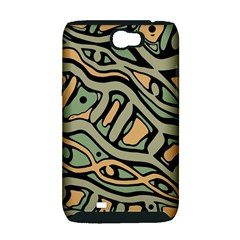 Green abstract art Samsung Galaxy Note 2 Hardshell Case (PC+Silicone)