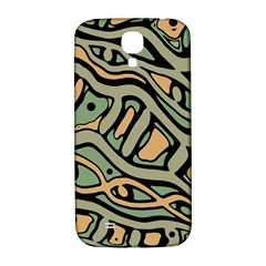 Green abstract art Samsung Galaxy S4 I9500/I9505  Hardshell Back Case