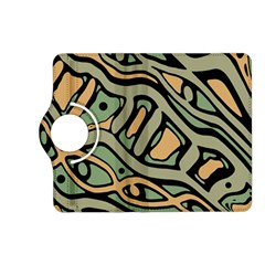 Green abstract art Kindle Fire HD (2013) Flip 360 Case