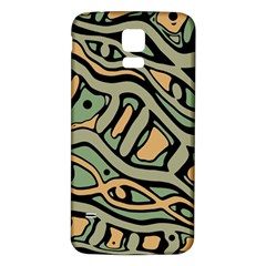 Green abstract art Samsung Galaxy S5 Back Case (White)