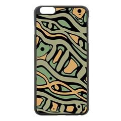 Green abstract art Apple iPhone 6 Plus/6S Plus Black Enamel Case