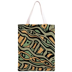 Green abstract art Classic Light Tote Bag