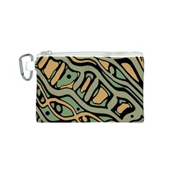 Green abstract art Canvas Cosmetic Bag (S)