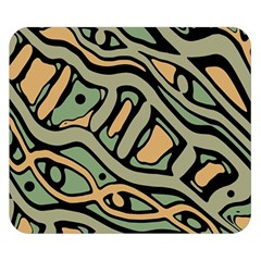 Green abstract art Double Sided Flano Blanket (Small)