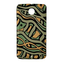 Green abstract art Nexus 6 Case (White)