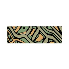 Green abstract art Satin Scarf (Oblong)