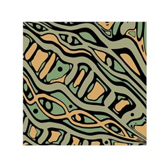 Green abstract art Small Satin Scarf (Square)